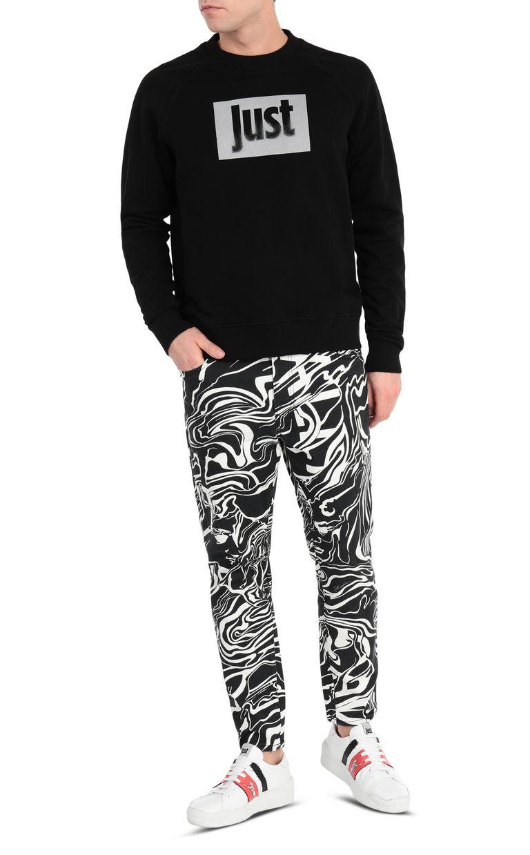 JUST CAVALLI Sweatshirt with logo print Sweatshirt Man d