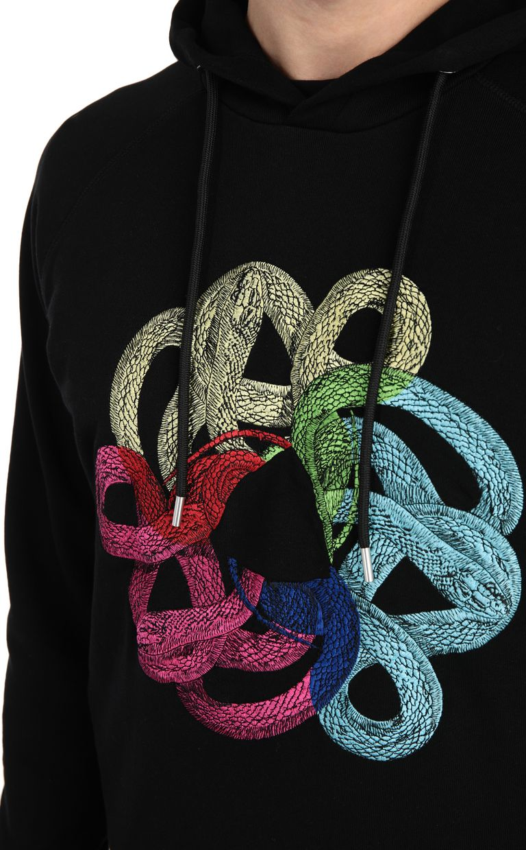 JUST CAVALLI Sweatshirt with snake print Sweatshirt Man e