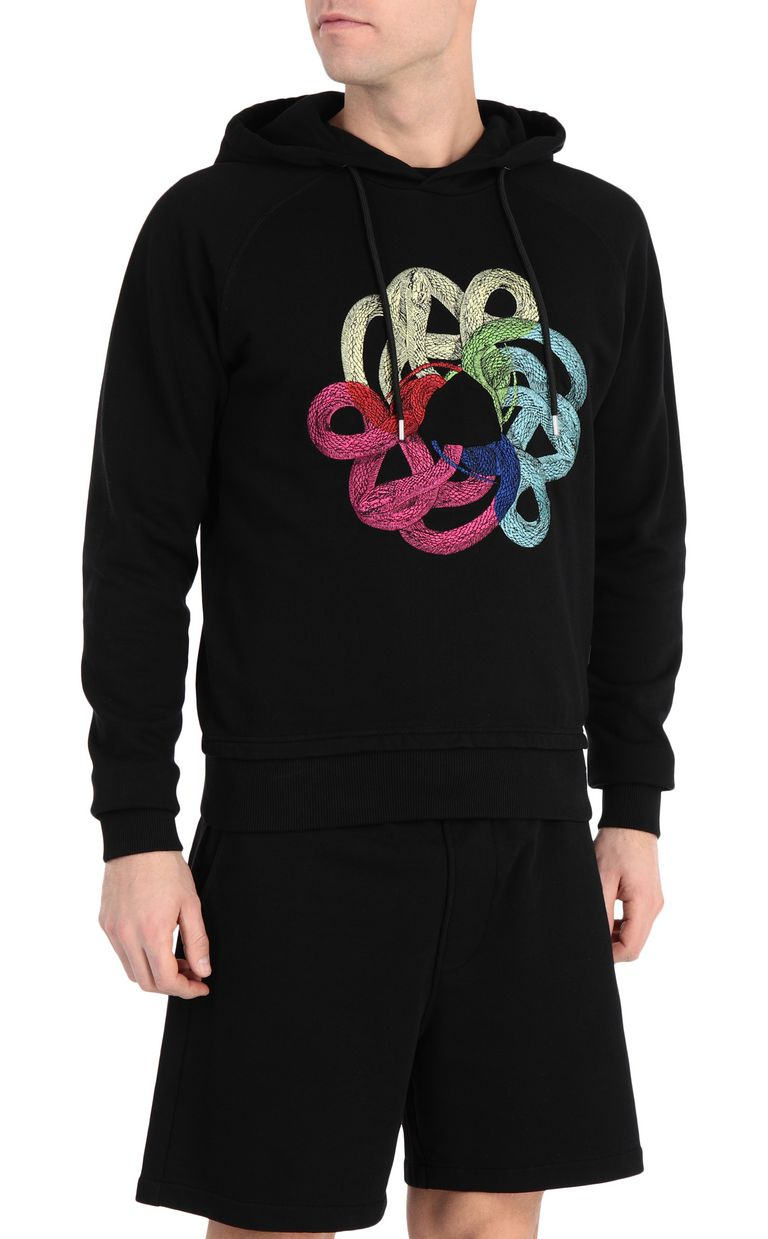 JUST CAVALLI Sweatshirt with snake print Sweatshirt Man f