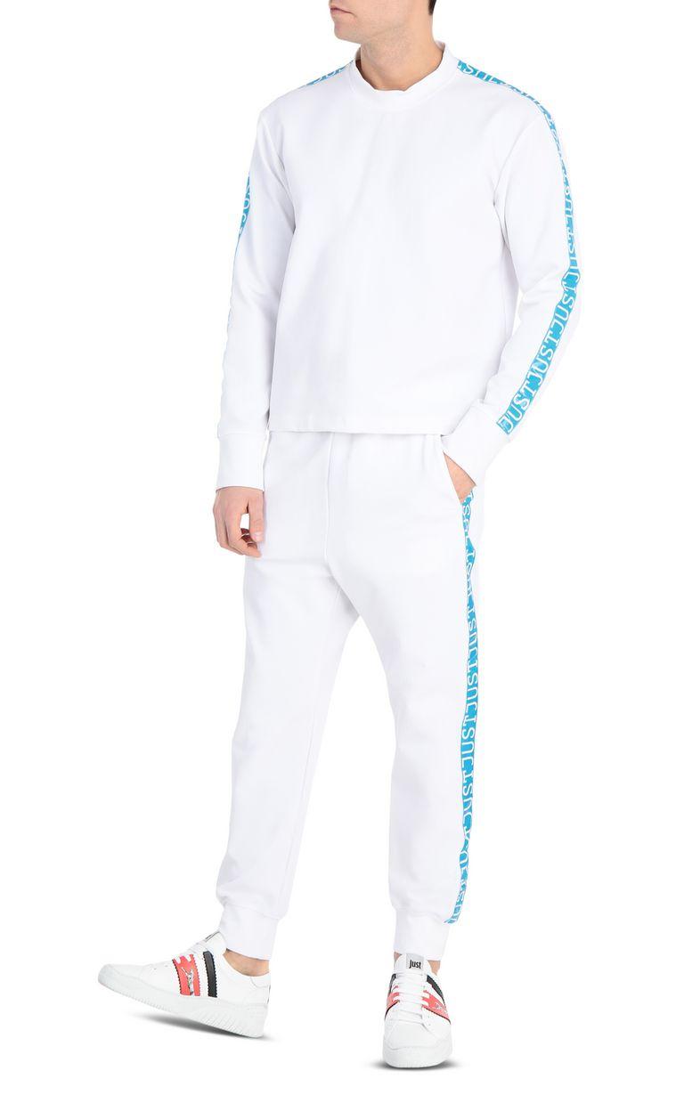 JUST CAVALLI Sweatshirt with logo-band Sweatshirt Man d