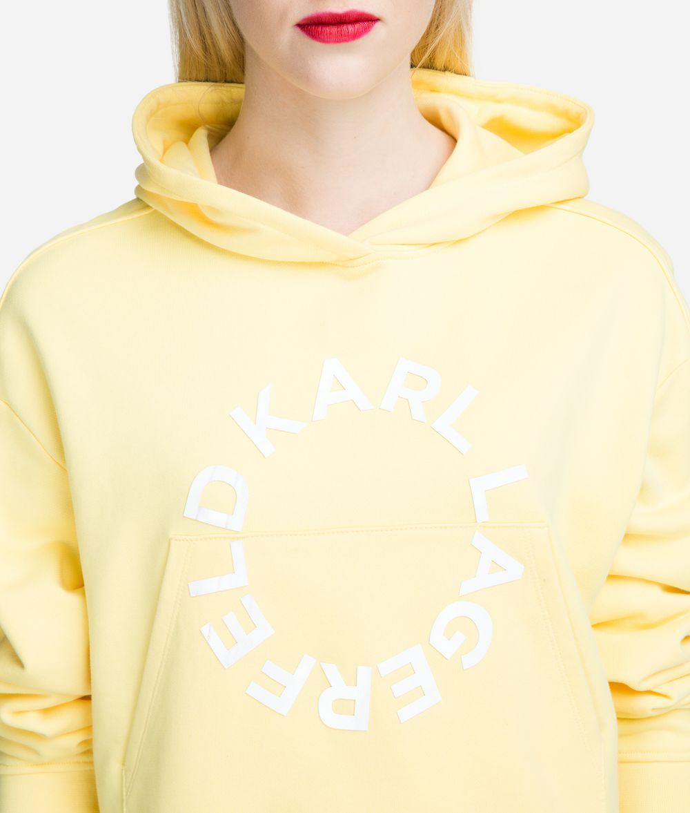 KARL LAGERFELD Cropped Logo Hoodie Sweatshirt Woman d