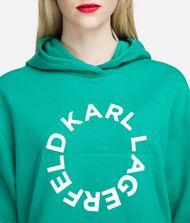 KARL LAGERFELD Cropped Logo Hoodie 9_f