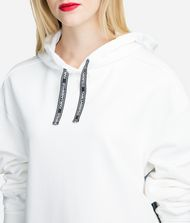 KARL LAGERFELD Fabric Mix Logo Hoodie Sweatshirt Woman d