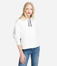 KARL LAGERFELD Fabric Mix Logo Hoodie Sweatshirt Woman f
