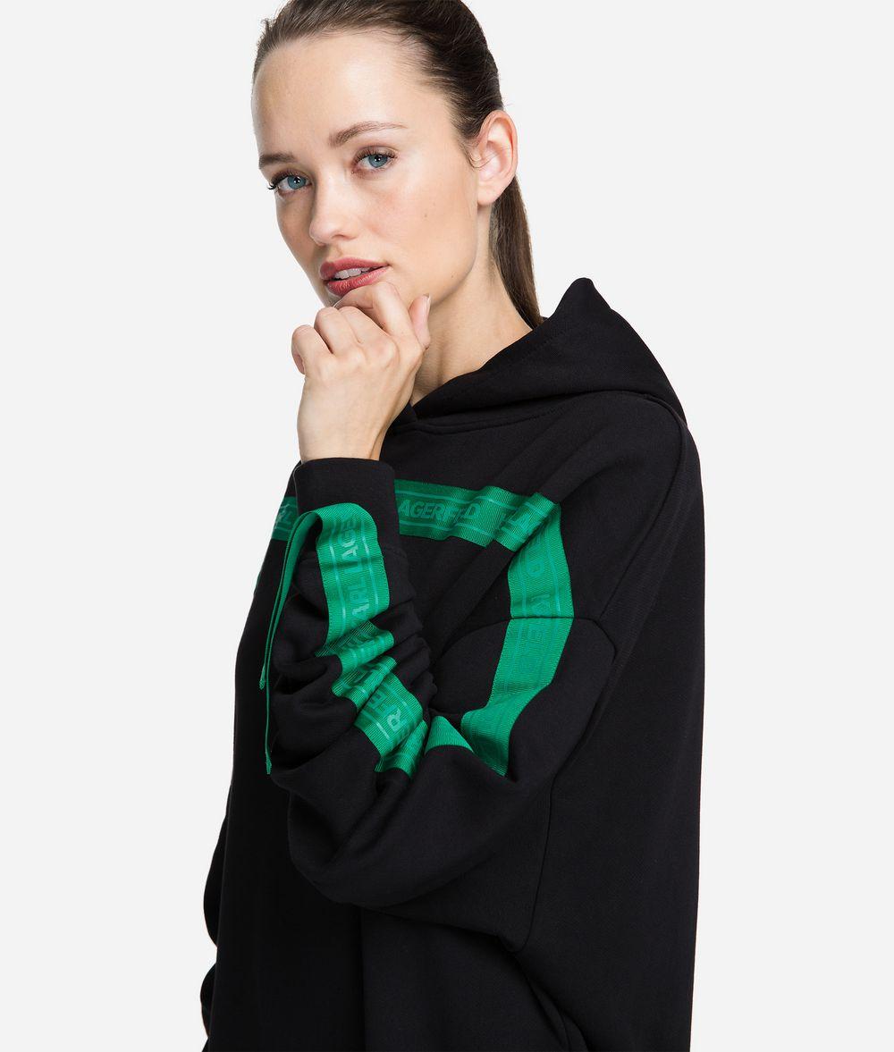 KARL LAGERFELD Logo Tape Hoodie Sweatshirt Woman d