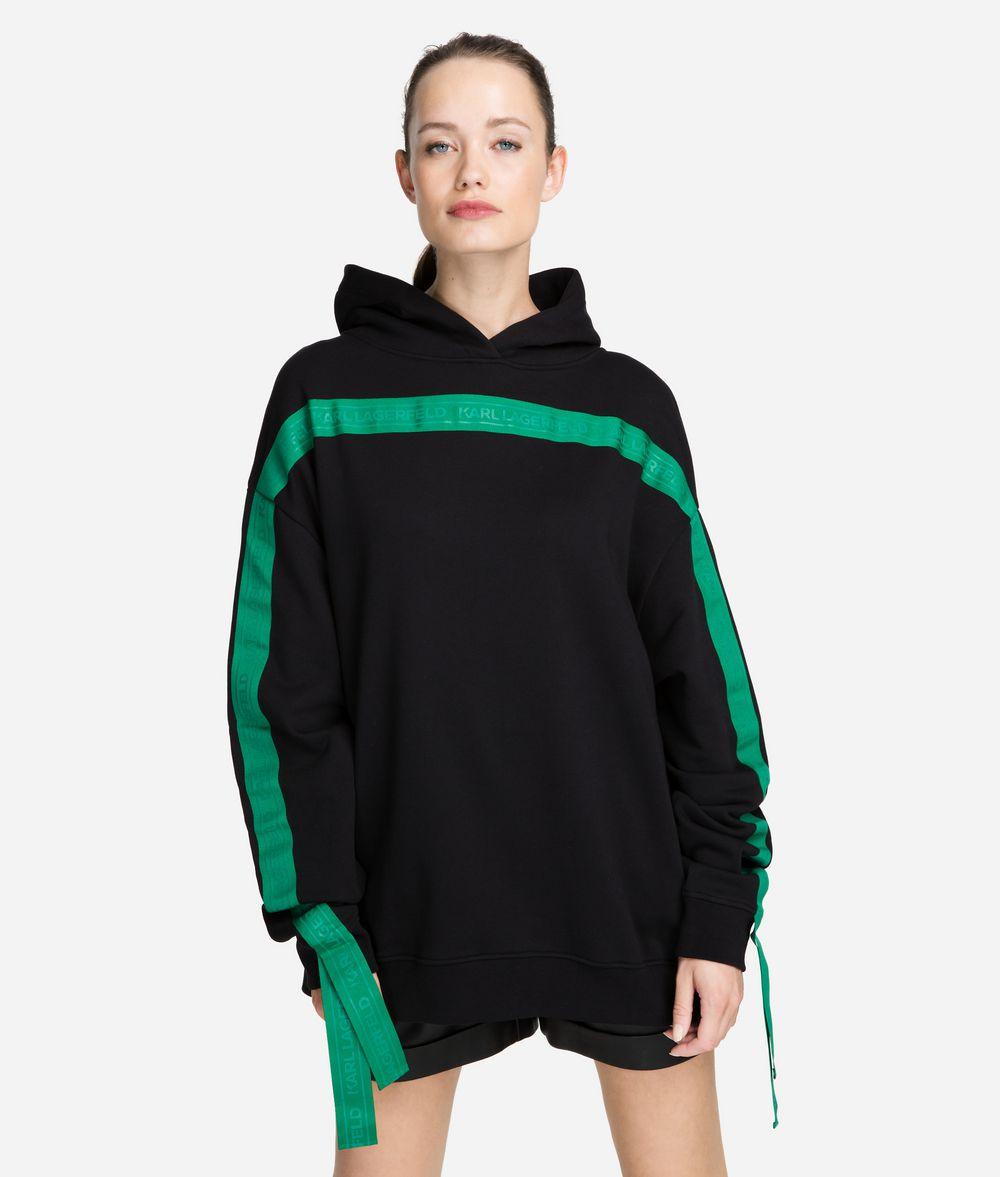 KARL LAGERFELD Logo Tape Hoodie Sweatshirt Woman f