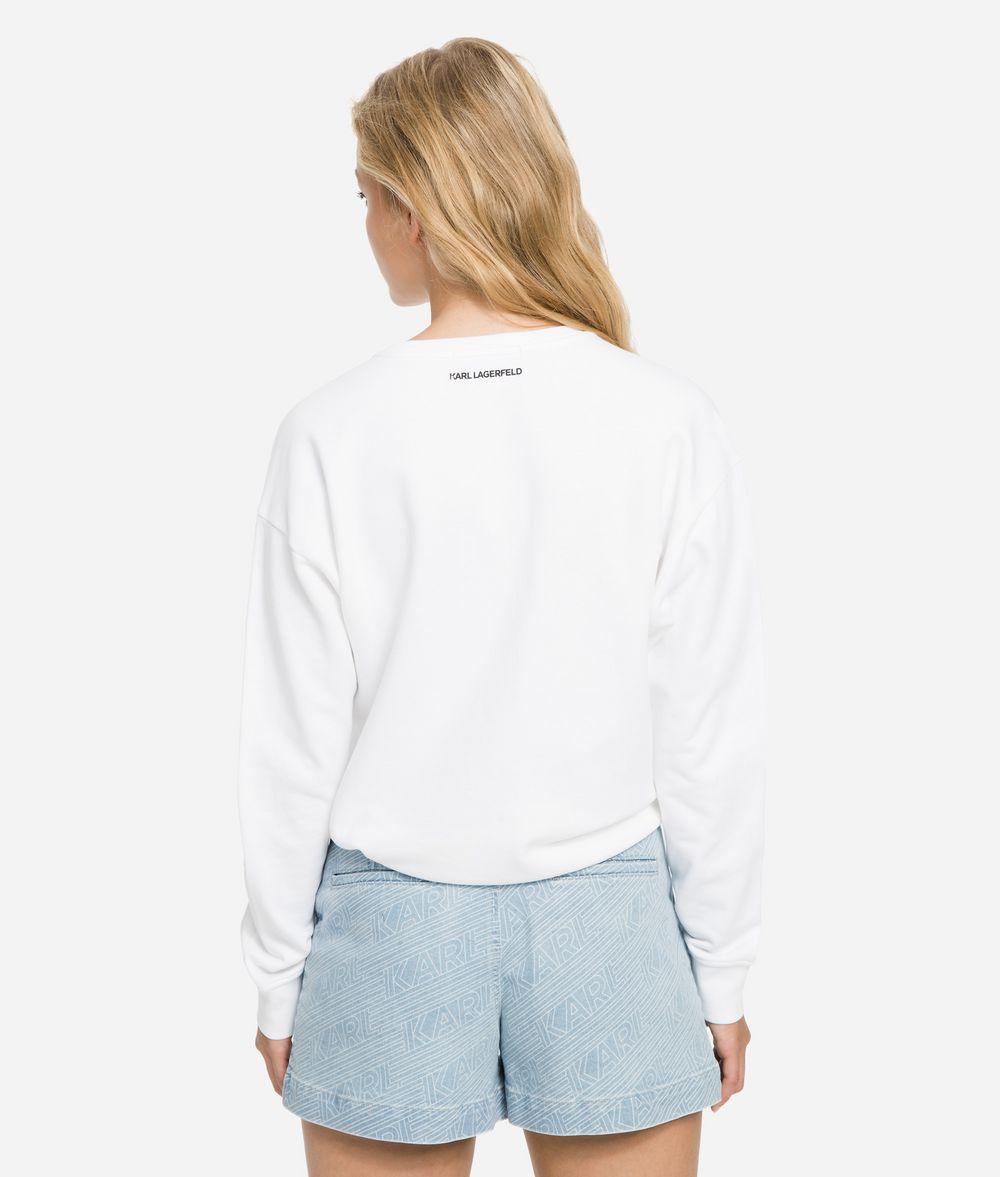 KARL LAGERFELD K/Karlifornia Cropped Sweatshirt Sweatshirt Woman d