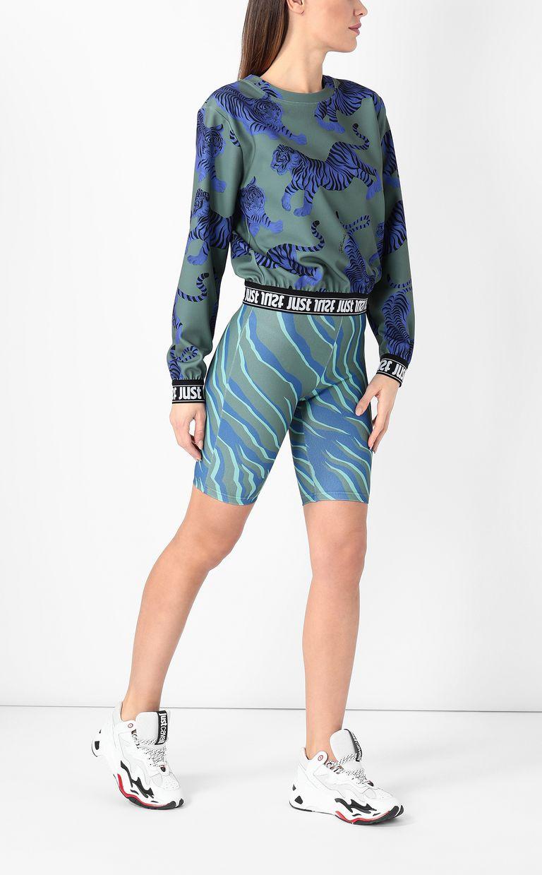 "JUST CAVALLI ""Chasing-Tigers"" print sweatshirt Sweatshirt Woman d"
