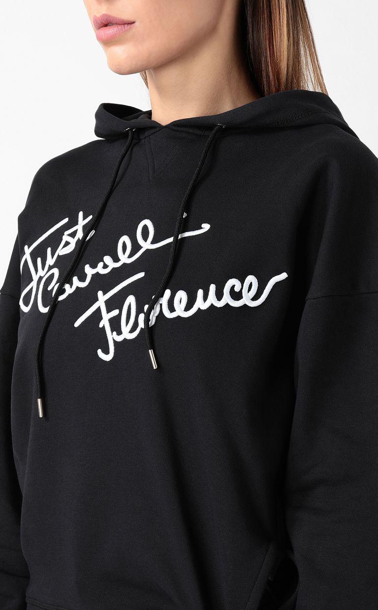 JUST CAVALLI Sweatshirt with logo print Sweatshirt Woman e