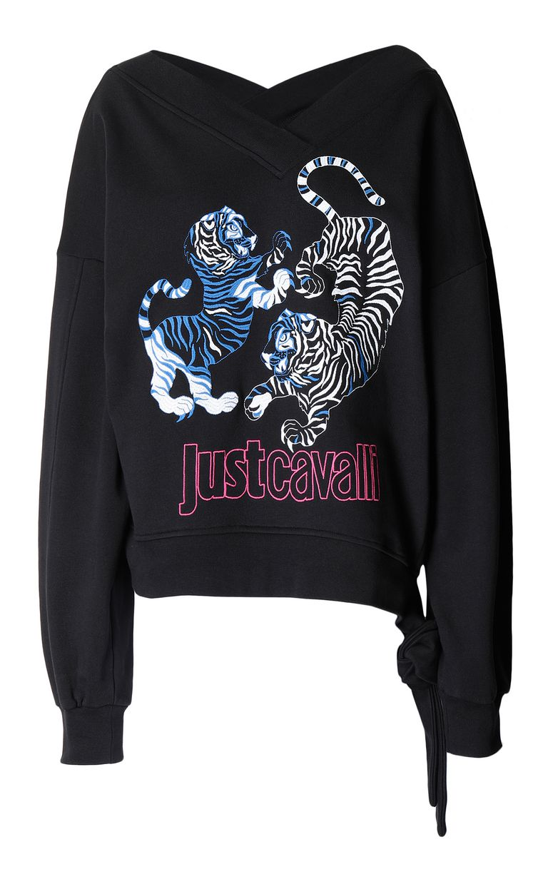 JUST CAVALLI Sweatshirt with tigers print Sweatshirt Woman f
