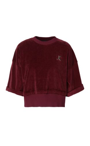 JUST CAVALLI Sweatshirt Woman Pierced houndstooth sweatshirt f