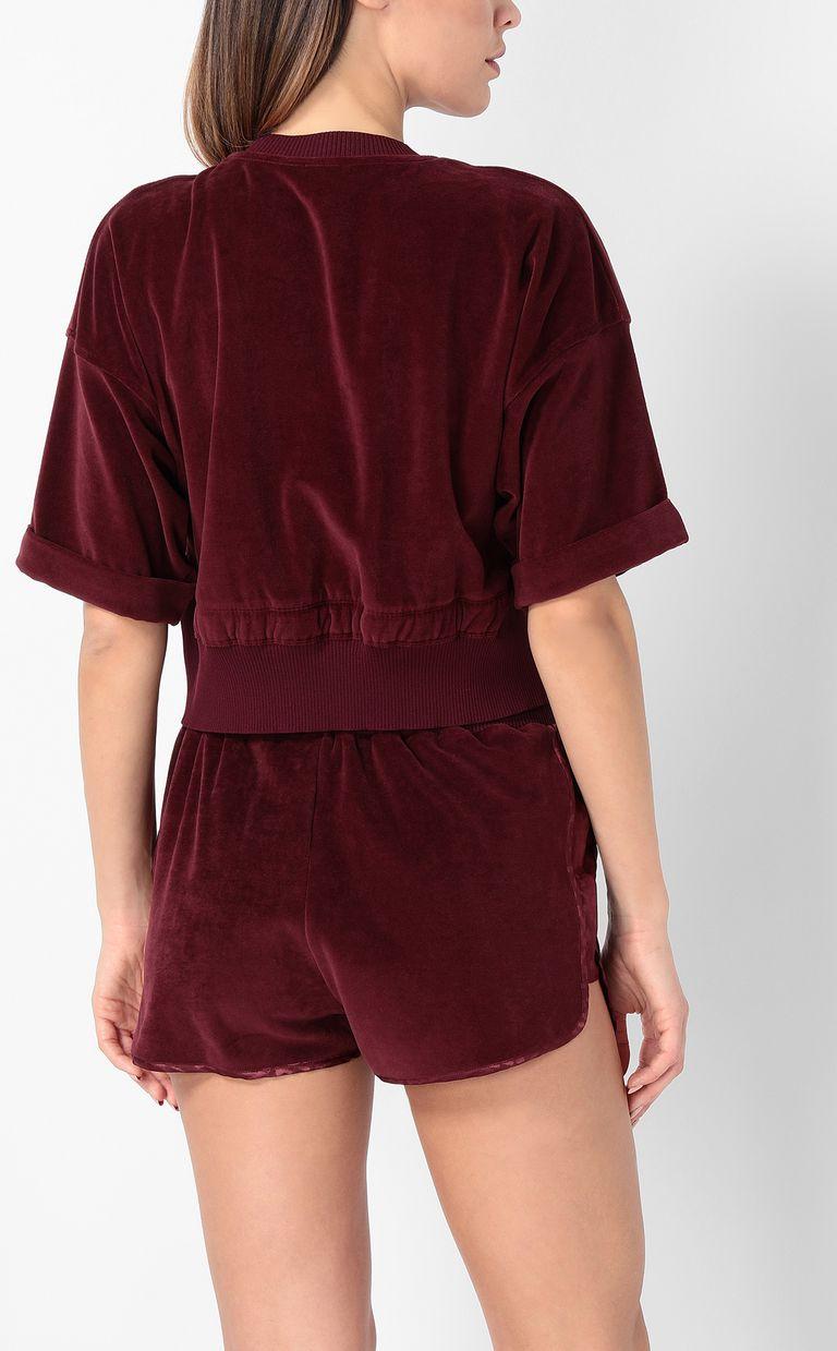 JUST CAVALLI Velours sweatshirt Sweatshirt Woman a