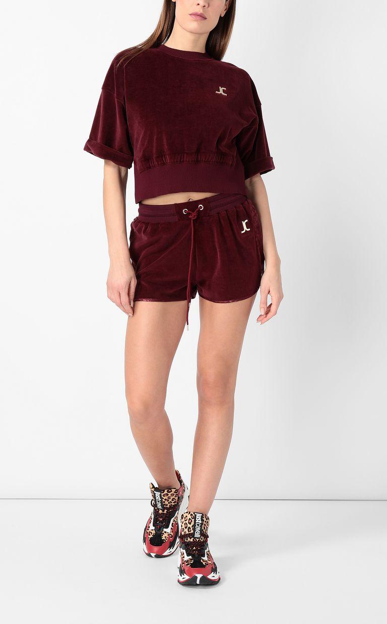 JUST CAVALLI Velours sweatshirt Sweatshirt Woman d