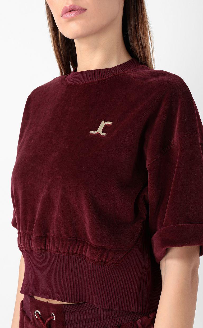 JUST CAVALLI Velours sweatshirt Sweatshirt Woman e