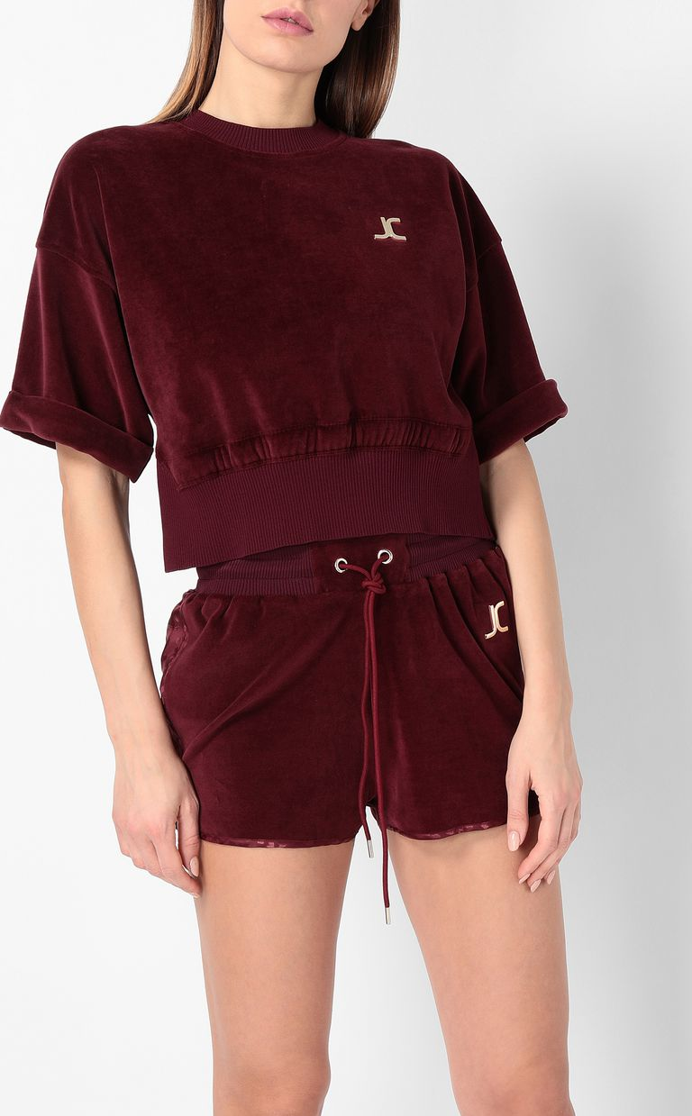 JUST CAVALLI Velours sweatshirt Sweatshirt Woman r