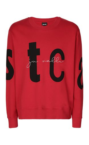JUST CAVALLI Sweatshirt Man Sweatshirt with STCA logo f