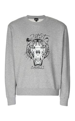 JUST CAVALLI Sweatshirt Man Tiger over Skull sweatshirt f
