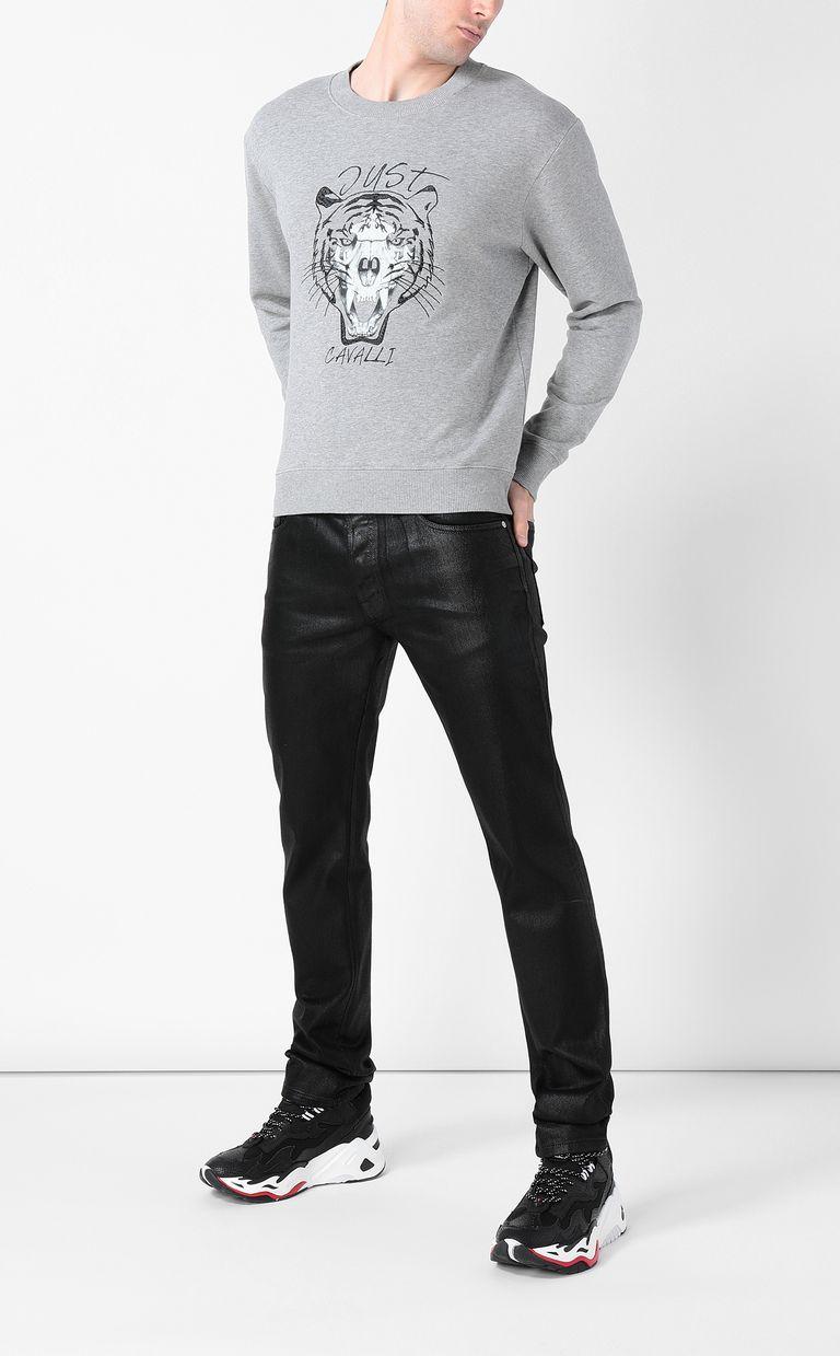 JUST CAVALLI Tiger over Skull sweatshirt Sweatshirt Man d