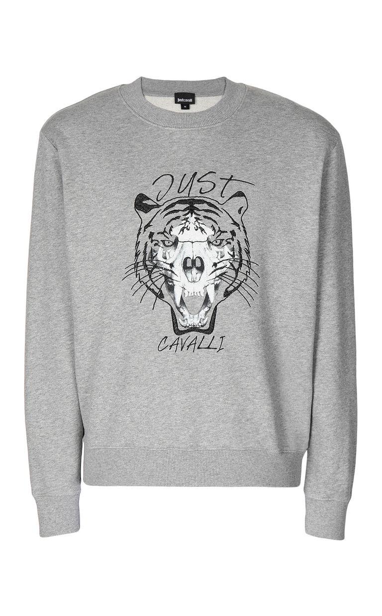 JUST CAVALLI Tiger over Skull sweatshirt Sweatshirt Man f