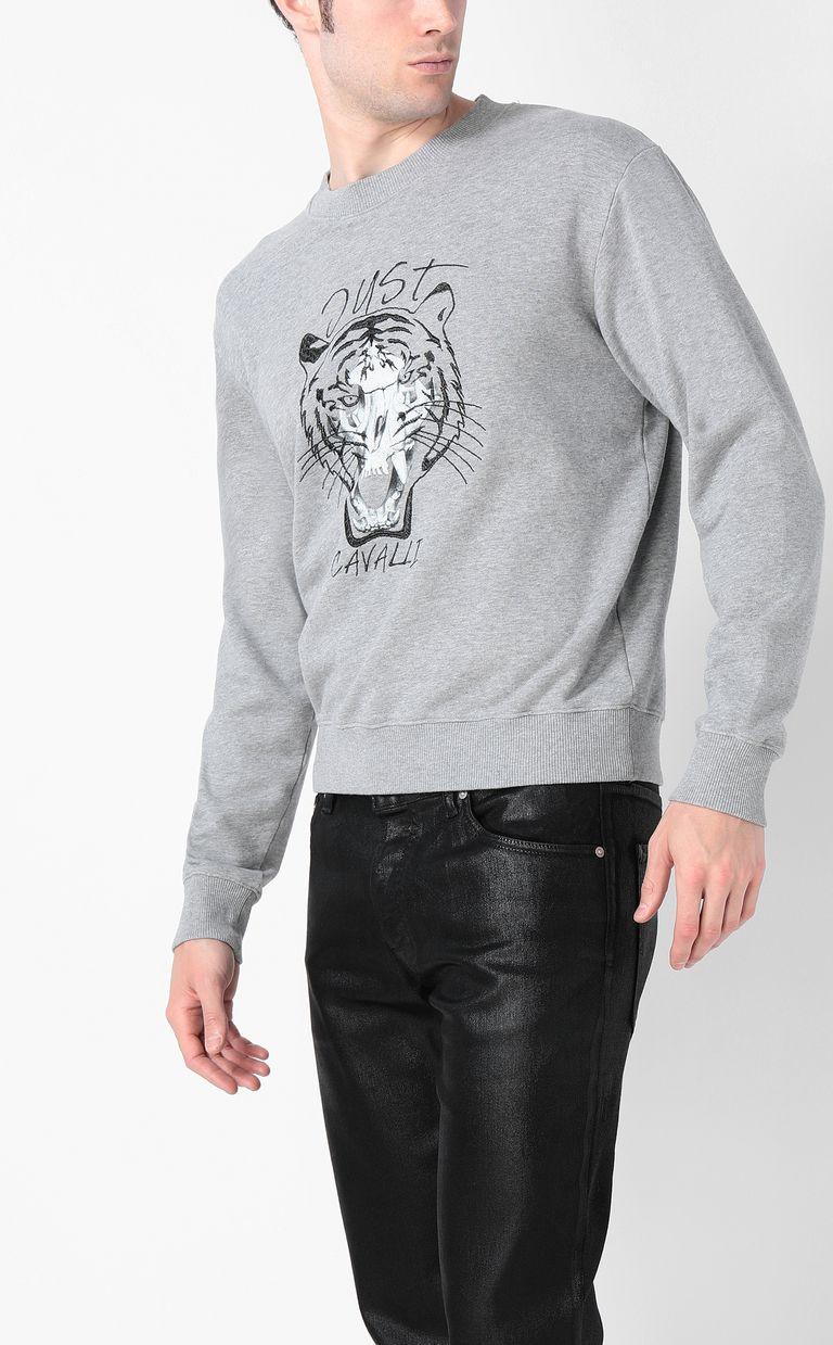 JUST CAVALLI Tiger over Skull sweatshirt Sweatshirt Man r