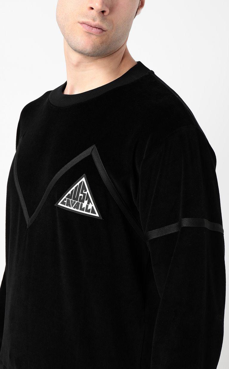JUST CAVALLI Sweatshirt with Just logo Sweatshirt Man e