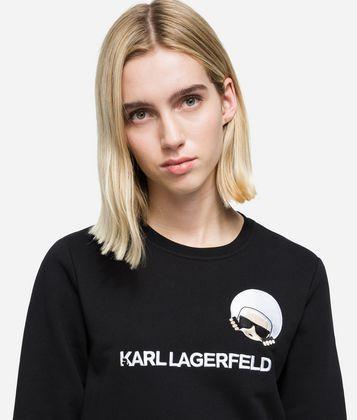 KARL LAGERFELD K/DOTS IKONIK SWEATSHIRT