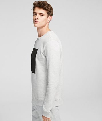 KARL LAGERFELD K/IKONIK PATCH SWEATSHIRT