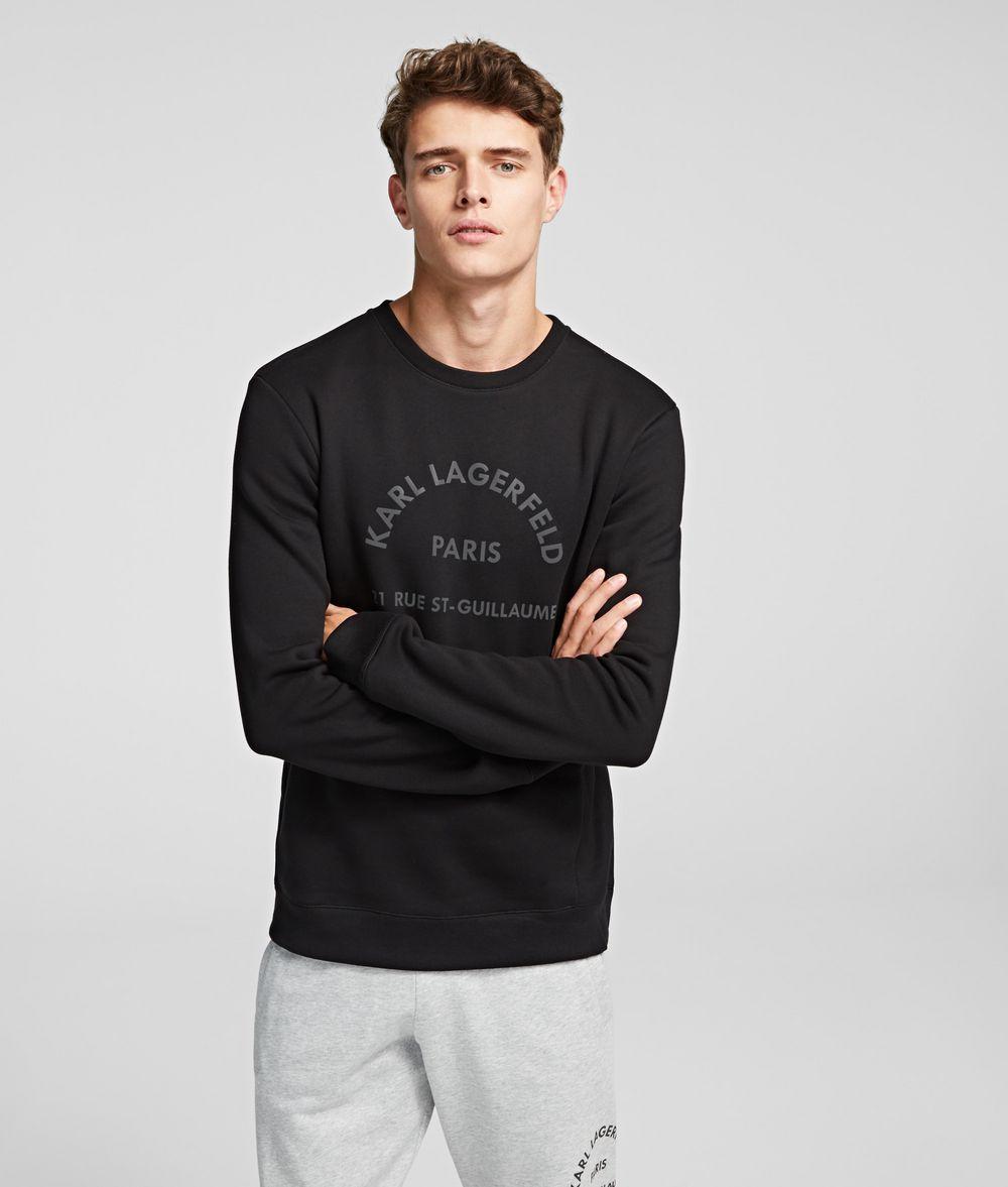 KARL LAGERFELD Rue St Guillaume Logo Sweatshirt Sweatshirt Man f