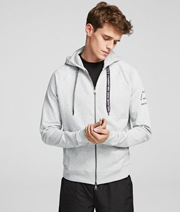 KARL LAGERFELD RUE ST GUILLAUME ZIP-THROUGH HOODIE