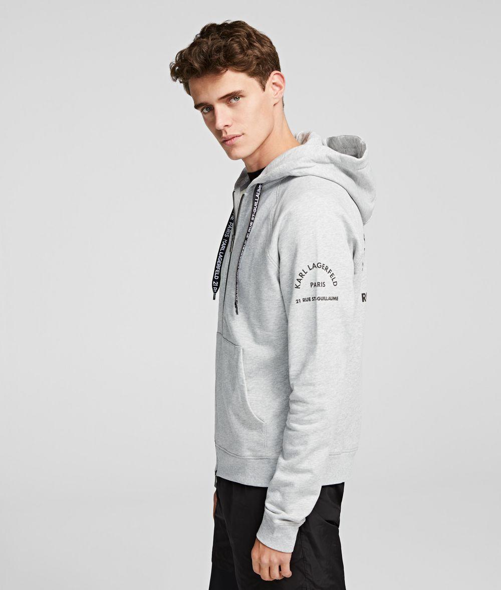 KARL LAGERFELD Rue St Guillaume Zipper Hoodie Sweatshirt Man d