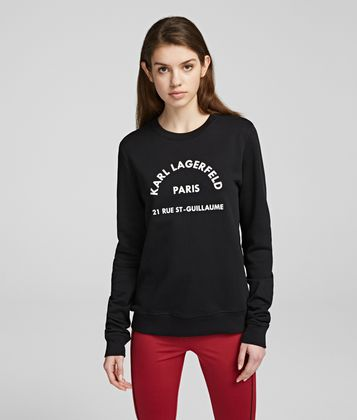 KARL LAGERFELD ADDRESS LOGO SWEATSHIRT