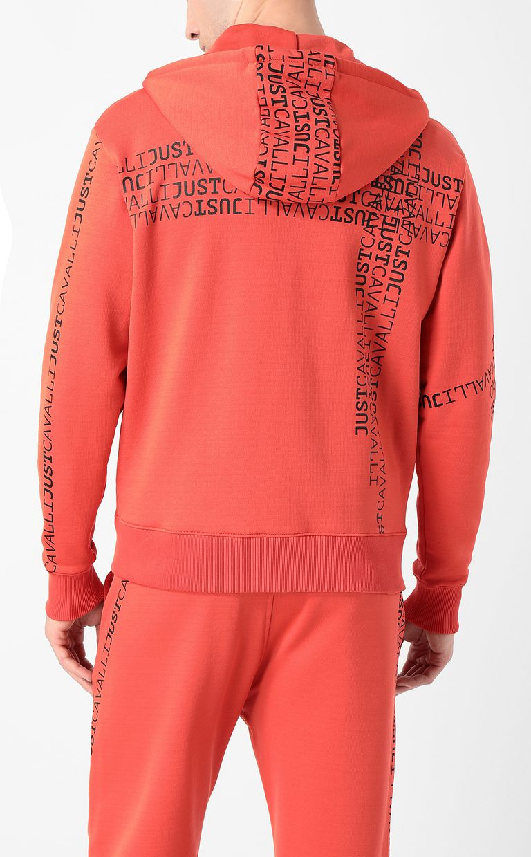 JUST CAVALLI Hooded logomania sweatshirt Sweatshirt Man a