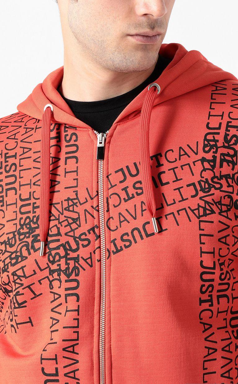 JUST CAVALLI Hooded logomania sweatshirt Sweatshirt Man e