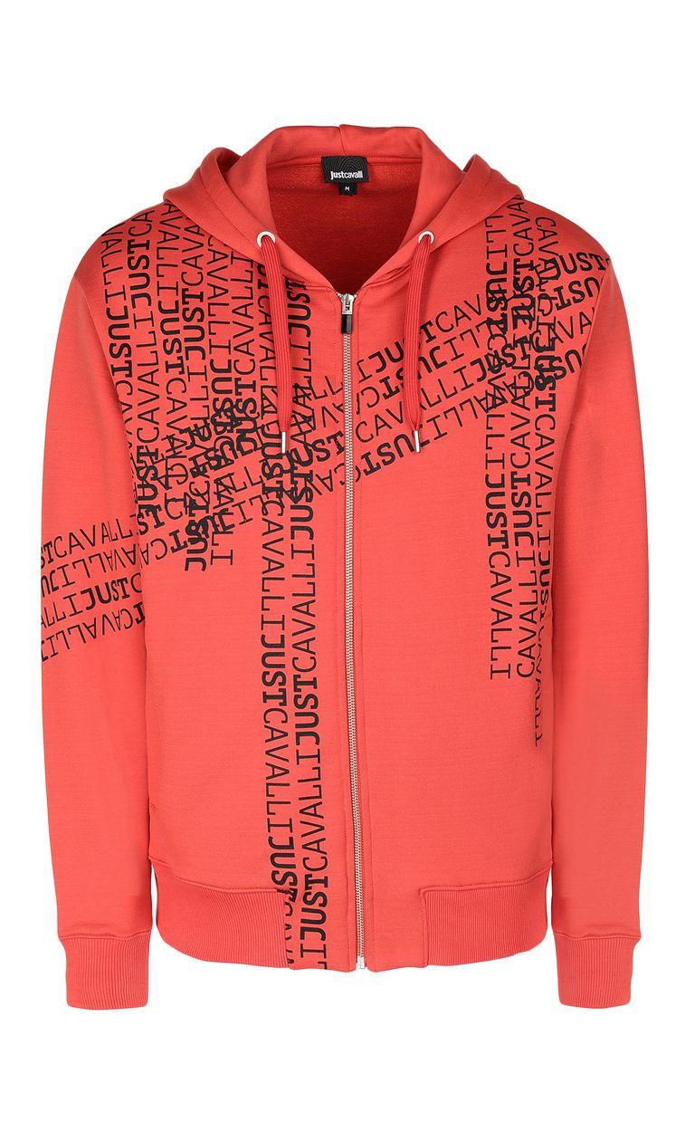 JUST CAVALLI Hooded logomania sweatshirt Sweatshirt Man f
