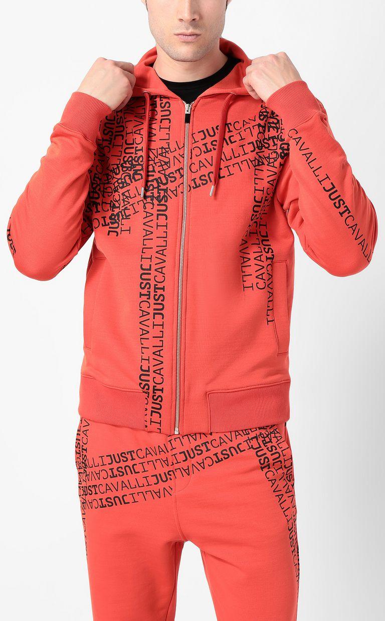 JUST CAVALLI Hooded logomania sweatshirt Sweatshirt Man r