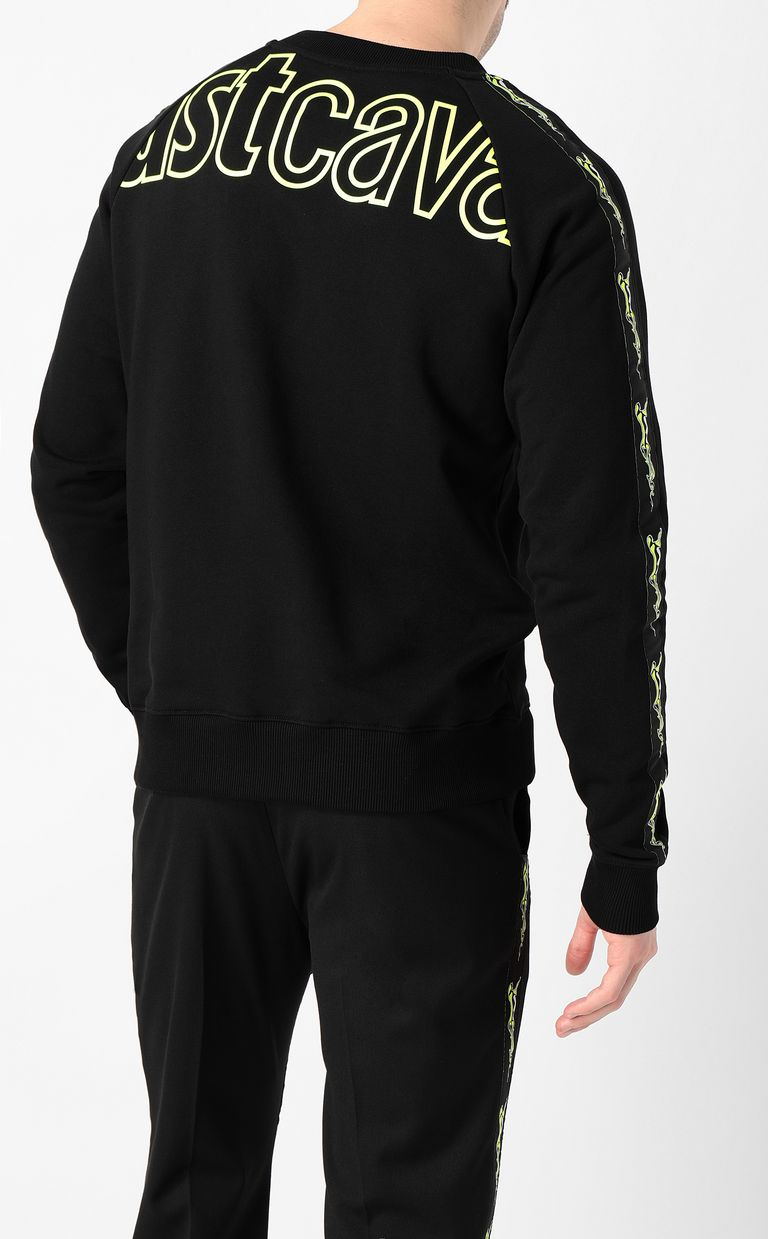 JUST CAVALLI Neon-logo sweatshirt Sweatshirt Man a