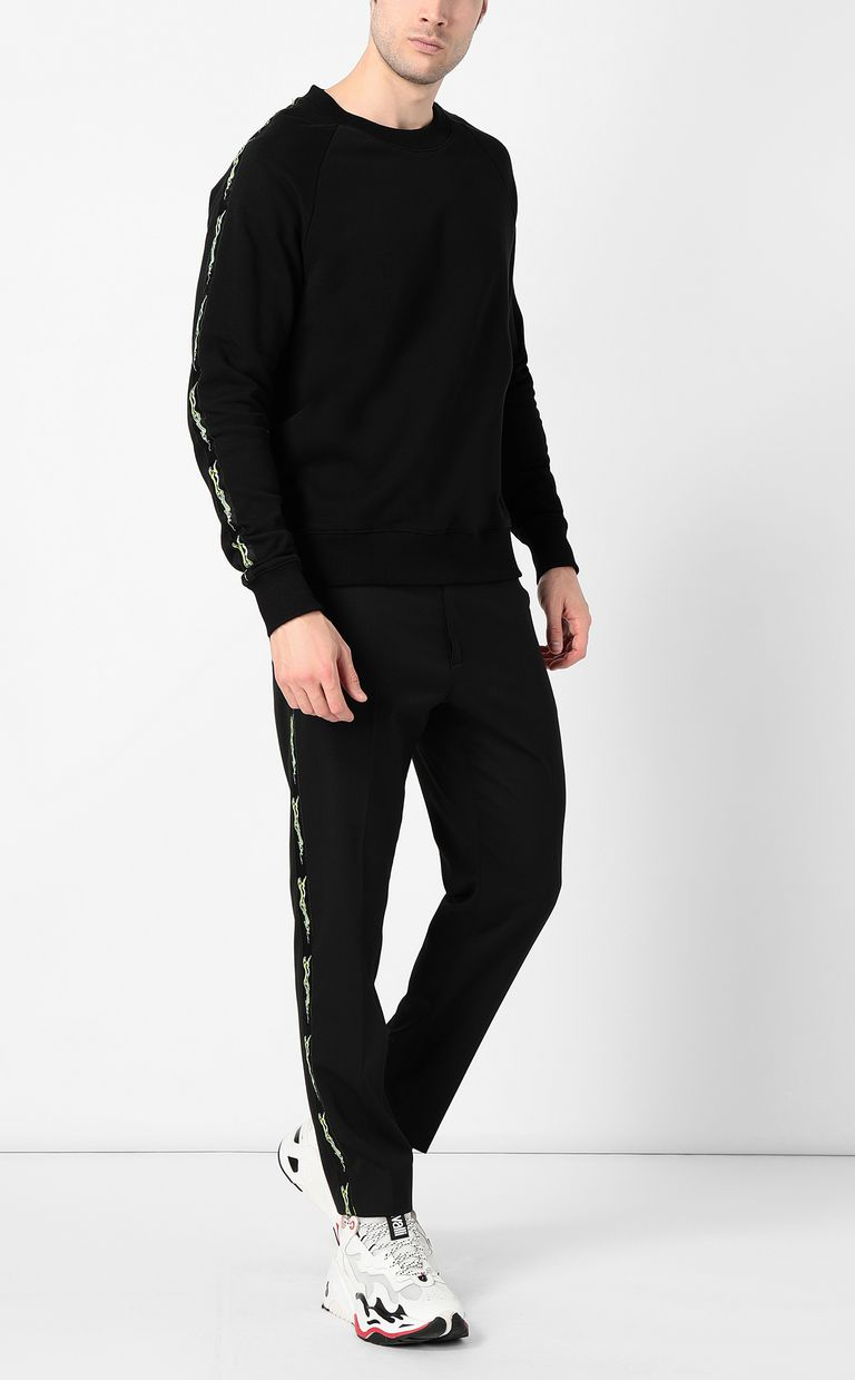 JUST CAVALLI Neon-logo sweatshirt Sweatshirt Man d