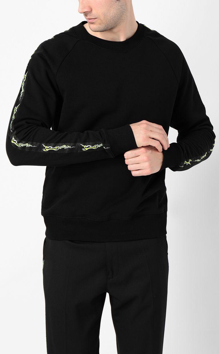 JUST CAVALLI Neon-logo sweatshirt Sweatshirt Man r