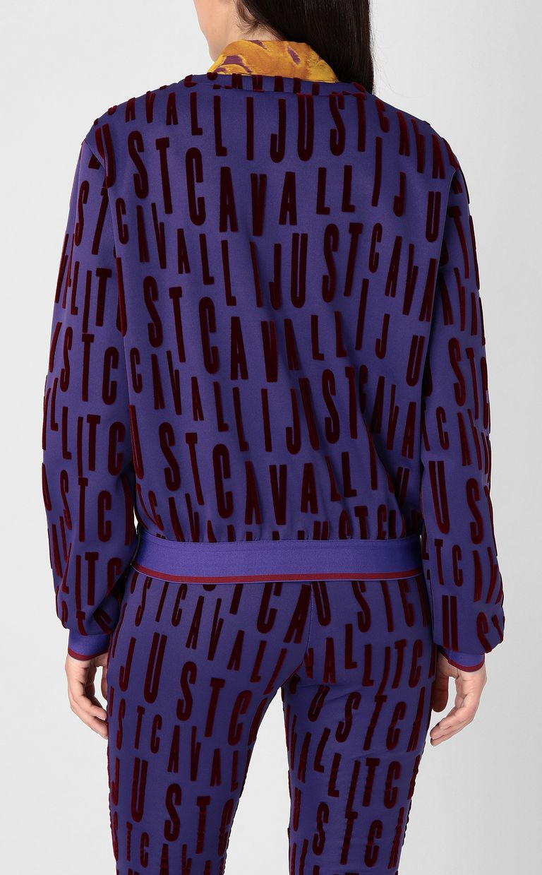JUST CAVALLI Sweatshirt with logo print Sweatshirt Woman a