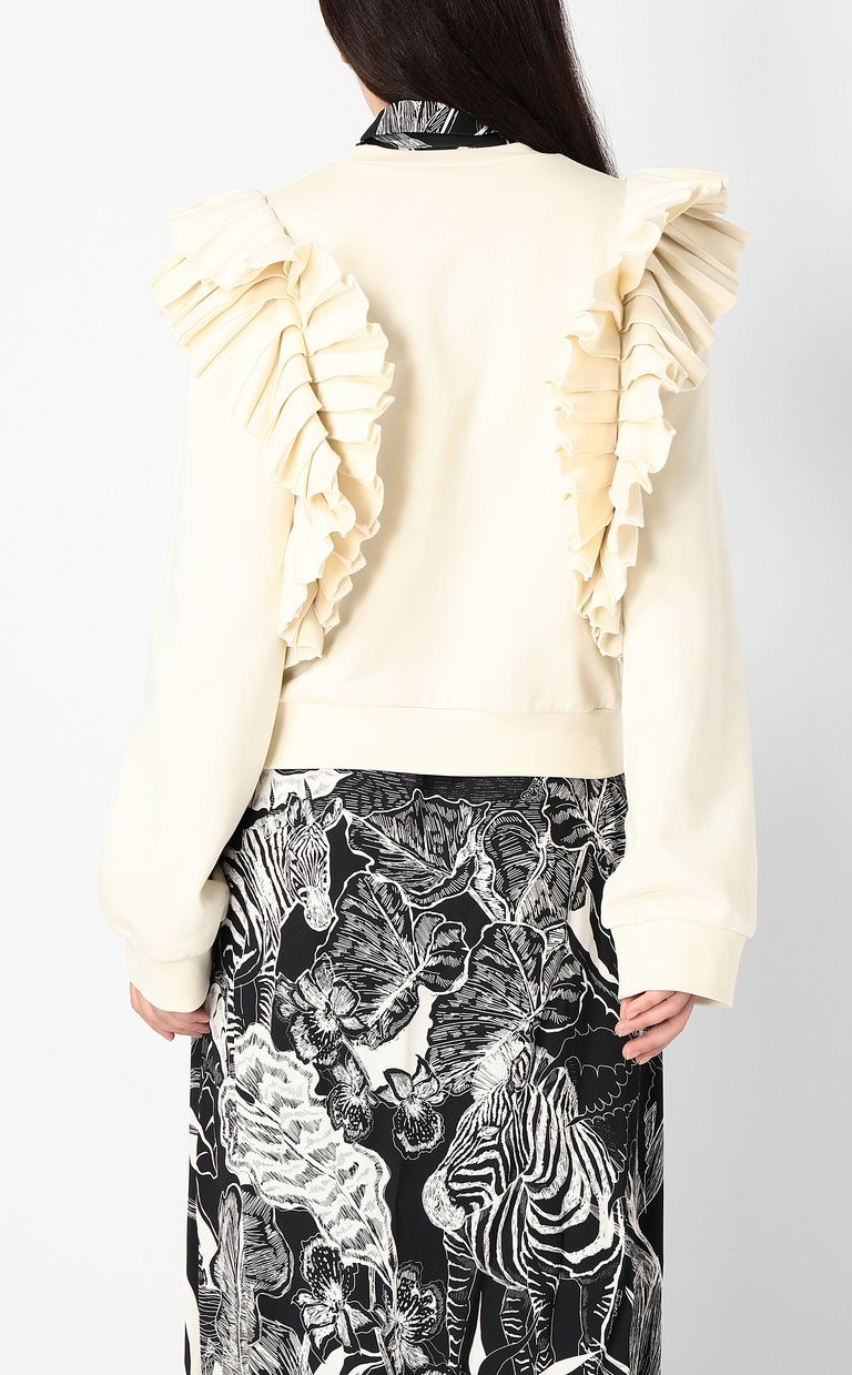 JUST CAVALLI Sweatshirt with pleated detailing Sweatshirt Woman a