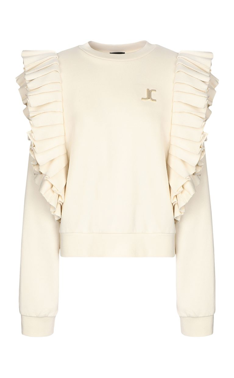 JUST CAVALLI Sweatshirt with pleated detailing Sweatshirt Woman f