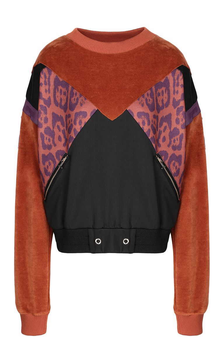 JUST CAVALLI Leopard-spot sweatshirt Sweatshirt Woman f