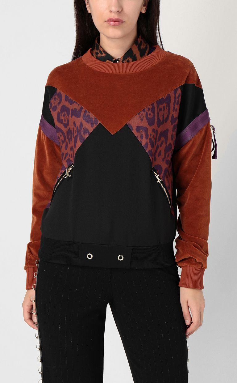 JUST CAVALLI Leopard-spot sweatshirt Sweatshirt Woman r