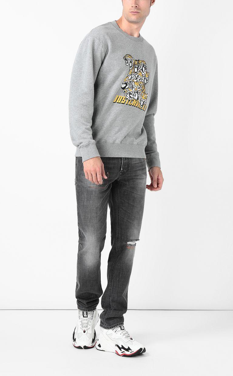 "JUST CAVALLI ""Tiger-Crowd"" print sweatshirt Sweatshirt Man d"