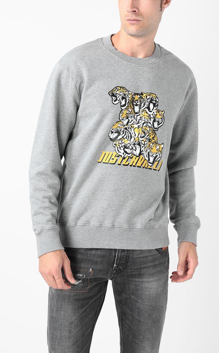 "JUST CAVALLI ""Tiger-Crowd"" print sweatshirt Sweatshirt Man r"