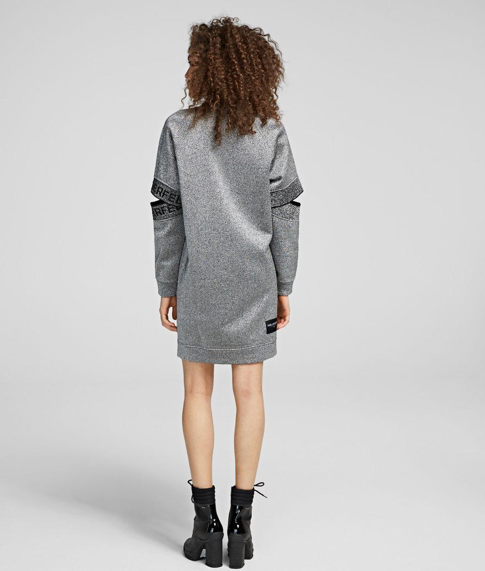 KARL LAGERFELD Cut-Out Sleeve Sweatdress Sweatshirt Woman d