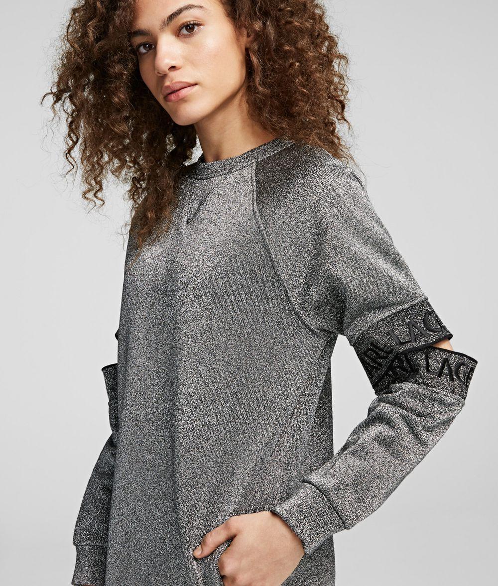 KARL LAGERFELD Cut-Out Sleeve Sweatdress Sweatshirt Woman f