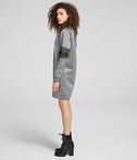 KARL LAGERFELD CUT-OUT SLEEVE SWEATDRESS