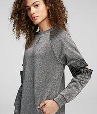 KARL LAGERFELD Cut-Out Sleeve Sweatdress 9_f