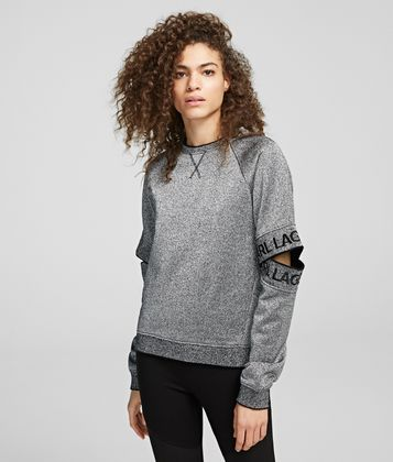 KARL LAGERFELD CUT-OUT SLEEVE SWEATSHIRT